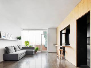 Vallribera Arquitectes Living room Wood Wood effect