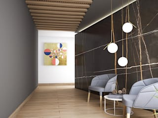 Interiorismo Pasillos, vestíbulos y escaleras modernos de Maquita Arquitectos Moderno