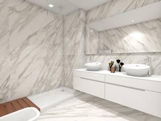 PROJECTOS 3D Casas de banho modernas por Inarte Interiores Moderno