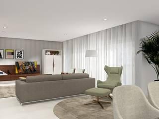 PROJECTOS 3D Salas de estar minimalistas por Inarte Interiores Minimalista