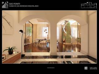 Pasillos, vestíbulos y escaleras de estilo moderno de Fabio Carria Moderno