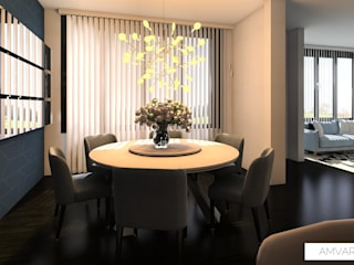 Hogar cálido Miami: modern  by Amvar Home, Modern
