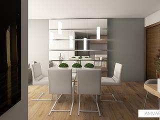 Apartamento minimalista Minimalist dining room by Amvar Home Minimalist