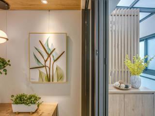 斗六未來領袖余小姐 斯堪的納維亞風格的走廊,走廊和樓梯 根據 大漢創研室內裝修設計有限公司 北歐風