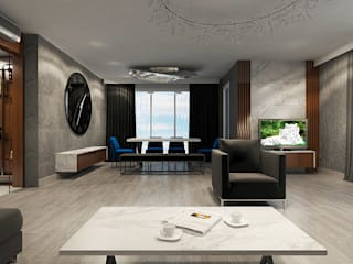 Salas de estilo moderno de NUUN MİMARLIK Moderno