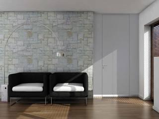 Porte Filo Muro Costruzioni Metalliche Matina Camera da letto minimalista Alluminio / Zinco Grigio