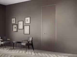 Porta a Filo Muro Costruzioni Metalliche Matina Porte in legno Alluminio / Zinco