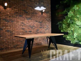 Stoły z litego drewna i metalu - kolekcja Woody CRAFT Poland JadalniaStoły Lite drewno Czarny