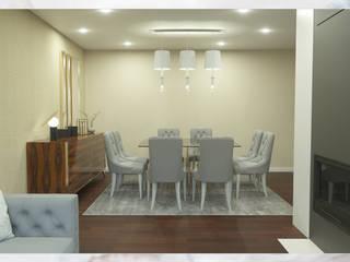 Sala de jantar/estar para apartamento Salas de jantar modernas por Madeira Negra Moderno