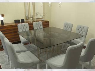 Sala de jantar/estar para apartamento por Madeira Negra Moderno