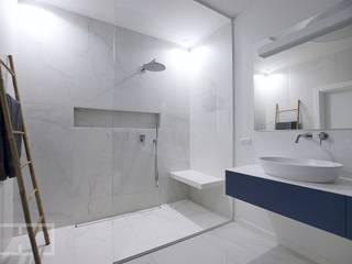 Projekt ŁAZIENKI EFEKT DOMINA Projektowanie Wnętrz Minimalistyczna łazienka