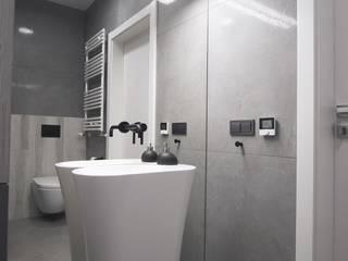 Projekt wnętrz APARTAMENTU EFEKT DOMINA Projektowanie Wnętrz Nowoczesna łazienka