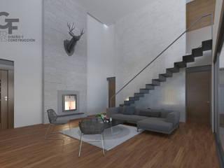 现代客厅設計點子、靈感 & 圖片 根據 GF ARQUITECTOS 現代風