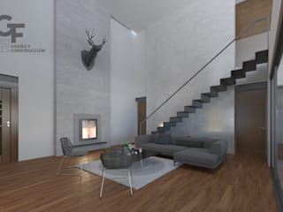 Modern living room by GF ARQUITECTOS Modern