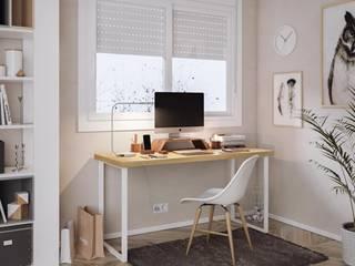 KionHome Study/officeDesks Chipboard White