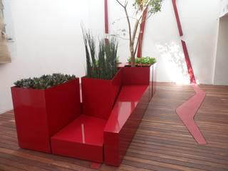 Ambiente Arquitectos Asociados, S.A de C.V. Modern balcony, veranda & terrace