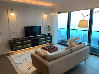 Private Residence | Azura | Mid-Levels, Hong Kong Modern living room by KMok Consulting Limited Modern