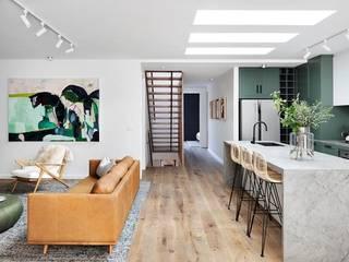 Home Renovation Famewalk Interiors Mediterranean corridor, hallway & stairs