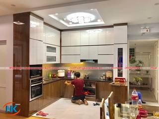 Mẫu tủ bếp acrylic an cường Nội thất Nguyễn Kim thi công 2019 bởi Nội thất Nguyễn Kim