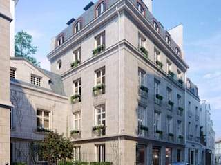 Renovation Project in Paris (Part III) VisEngine Digital Solutions Classic style houses Grey