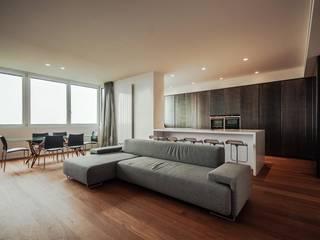 Flat_01 Soggiorno minimalista di Sebastiano Canzano Architects Minimalista