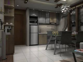 Unit Apartment Ruang Makan Minimalis Oleh unimony.id Minimalis