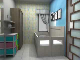 Unit Apartment Kamar Bayi/Anak Minimalis Oleh unimony.id Minimalis