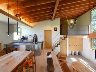 上深沢の家 鎌田建築設計室 モダンデザインの リビング