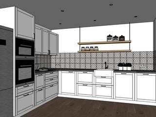 Rénovation d'une cuisine Cuisine classique par Julie LEFEVRE - Design d'Espace et Rendu 3D Classique