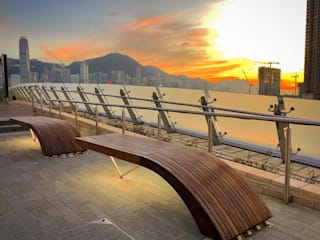 Exterpark Espacios comerciales de estilo moderno Madera maciza