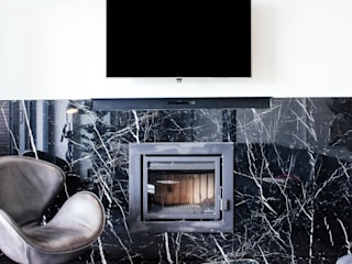 De Waterkant Apax Design Modern living room Marble Black