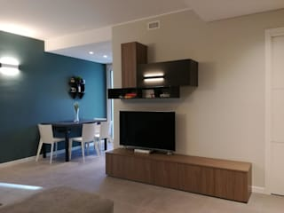 Appartamento Milano TREZZI INTERNI SNC DI TREZZI FAUSTO, FRANCESCO E DARIO Soggiorno moderno