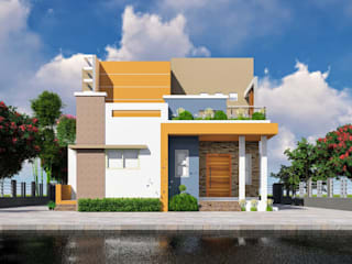 2BHK single family bungalow at Kedgaon by Nakshatra Construction Modern