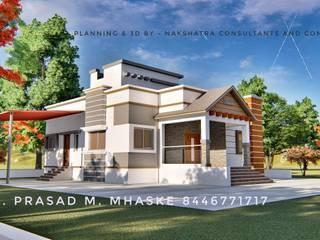 3BHK SINGLE FAMILY HOUSE AT MALSHIRAS NEAR PUNE by Nakshatra Construction Country