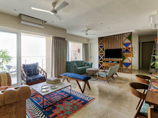 Parel Residence, Mumbai Eclectic style living room by Inscape Designers Eclectic