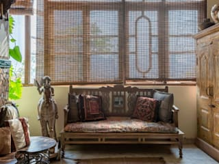 Worli Residence, Mumbai Eclectic style living room by Inscape Designers Eclectic