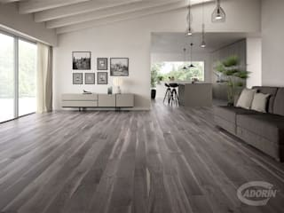 American Walnut Bark Salas de estar modernas por Cadorin Group Srl - Italian craftsmanship Wood flooring and Coverings Moderno