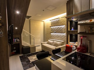 Apartamento JB Salas de estar modernas por Marcelle de Castro - arquitetura|interiores Moderno