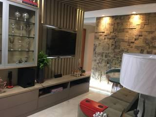 APARTAMENTO RL Salas de estar modernas por Marcelle de Castro - arquitetura|interiores Moderno