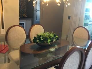 APARTAMENTO RL Salas de jantar modernas por Marcelle de Castro - arquitetura|interiores Moderno