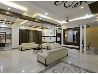 Spacemekk Designers p.LTD Living room Marble White