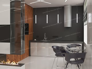 Апартаменты на Каширском шоссе Кухня в стиле минимализм от LEMstudio Минимализм