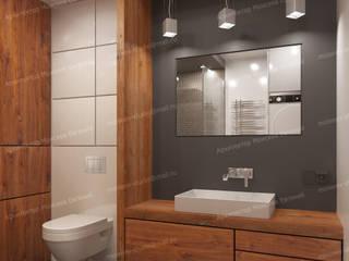 Апартаменты на Каширском шоссе Ванная комната в стиле минимализм от LEMstudio Минимализм