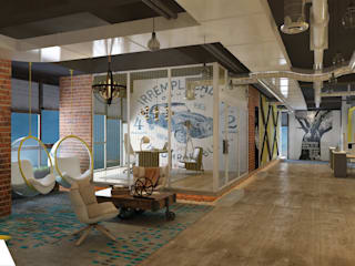 Modern Corridor, Hallway and Staircase by Rijit Mimarlık Modern