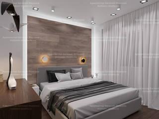 Квартира на Волгоградском проспекте Спальня в скандинавском стиле от LEMstudio Скандинавский
