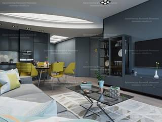 Квартира на Карамышевской набережной Гостиная в стиле минимализм от LEMstudio Минимализм