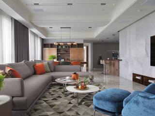 JR House 现代客厅設計點子、靈感 & 圖片 根據 天境空間設計有限公司 現代風