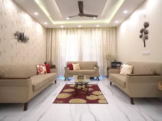 Glamrous Living Room HomeLane.com Modern Living Room
