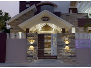 Spacemekk Designers p.LTD Front doors Wood Wood effect