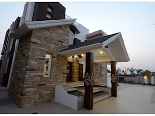 Spacemekk Designers p.LTD Bungalows Stone Wood effect